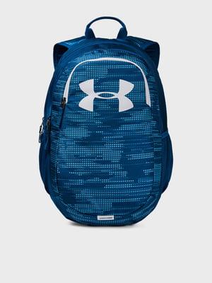 Рюкзак синий с принтом | 5601729