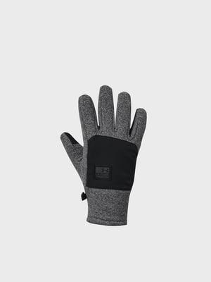 Перчатки цвета черный меланж | 5601805