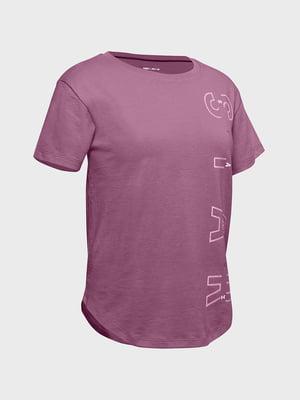 Футболка рожева з принтом | 5601819