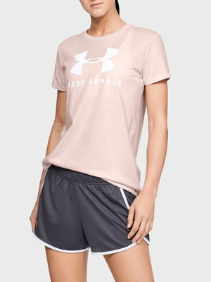 Футболка рожева з принтом | 5601946