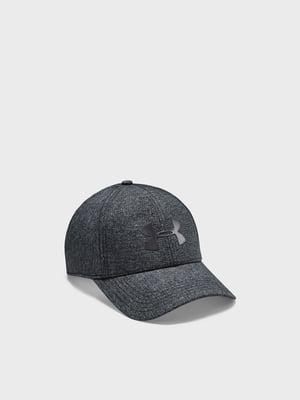 Бейсболка цвета черный меланж | 5602018