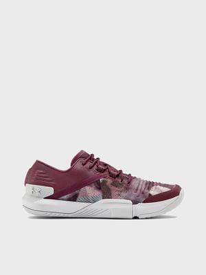 Кросівки фіолетові з принтом | 5602621