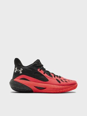 Кросівки чорно-червоного кольору | 5602733