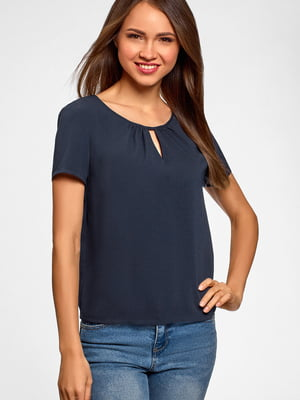 Блуза синяя | 5602891
