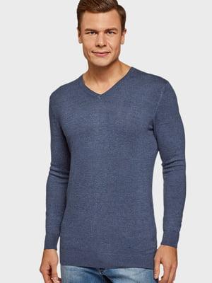 Пуловер сизого цвета   5603537