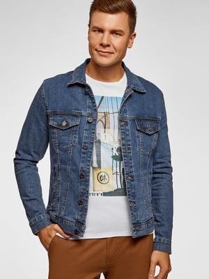 Куртка синя джинсова | 5603739
