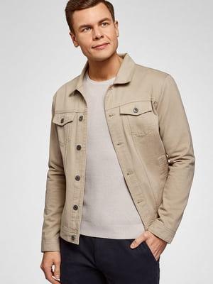 Куртка джинсова бежева | 5603740