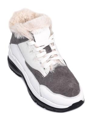 Кроссовки бело-серые | 5598735