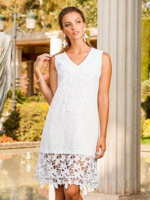 Платье пляжное белое | 5601227
