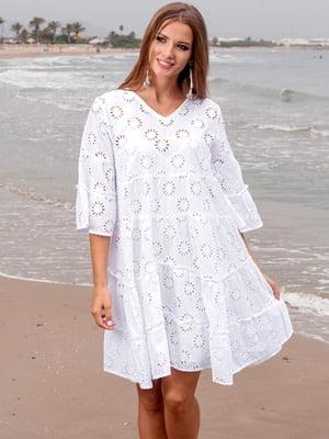 Платье пляжное белое | 5601230