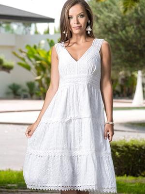 Платье пляжное белое | 5601235