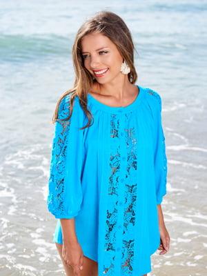 Туника пляжная голубого цвета   5601256