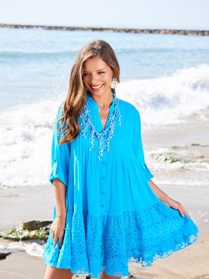 Туника пляжная голубого цвета   5601287