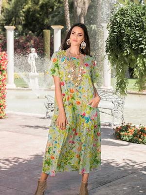 Платье пляжное в цветочный принт | 5601324