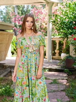 Платье пляжное в цветочный принт | 5601325