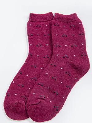 Шкарпетки бордові  | 5604199