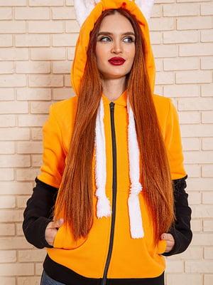 Толстовка оранжево-чорна | 5604283