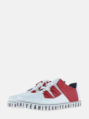 Кеды бело-красные   5604971