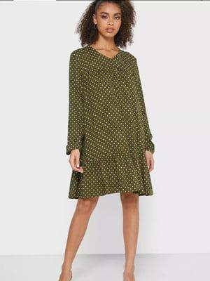 Платье цвета хаки в горох | 5580784