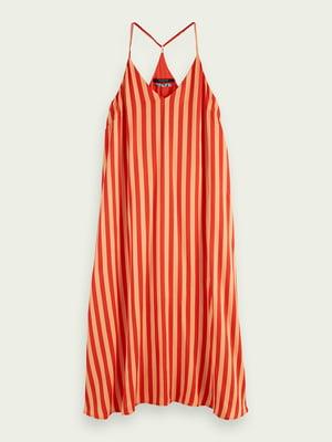 Сукня помаранчева в смужку | 5529374