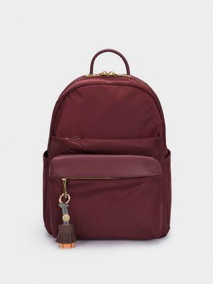 Рюкзак бордовий | 5604889