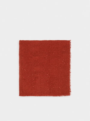 Шарф теракотового кольору з декором-блискітками | 5604928