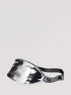 Сумка серебристого цвета с принтом | 5605111