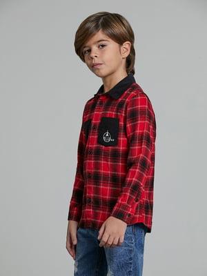 Рубашка красная в клетку | 5604624