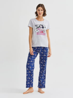 Пижама: футболка и брюки | 5606248