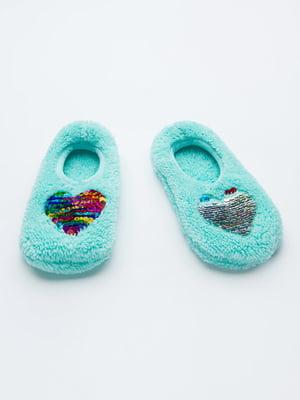 Шкарпетки слідки блакитні | 5606255