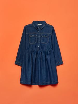 Платье-рубашка синее джинсовое | 5595352