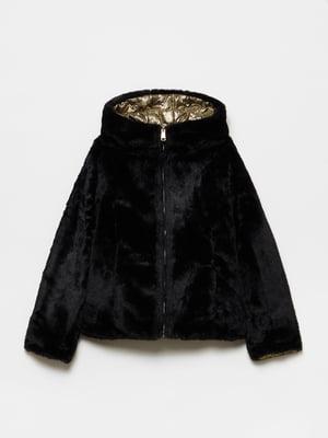 Куртка чорно-золотистого кольору двостороння | 5605352