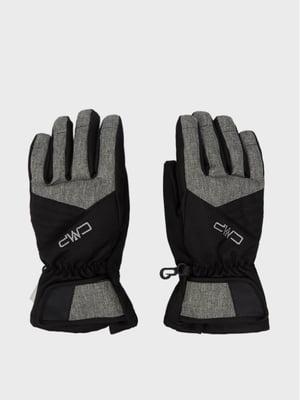 Рукавички сіро-чорні з логотипом | 5584724