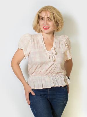 Блуза пудрового кольору  | 5607142