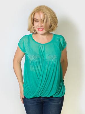 Блуза бірюзового кольору | 5607144