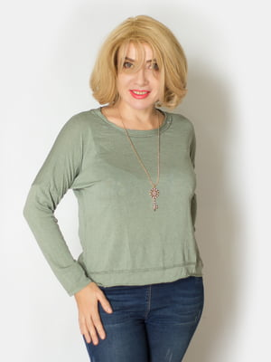 Блуза оливкового цвета   5607176