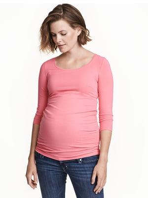 Лонгслів для вагітних рожевий | 5607239