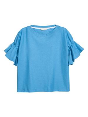 Топ голубой   5607283