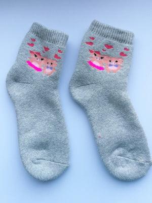 Шкарпетки сірі з принтом | 5608236