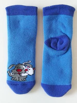 Шкарпетки сині з принтом | 5608238