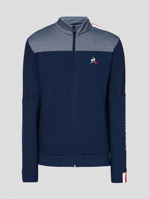 Кофта спортивная синяя с логотипом | 5608066