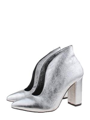 Туфлі-ботильйони сріблястого кольору | 5594039