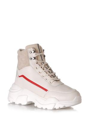 Ботинки бежевые | 5608601