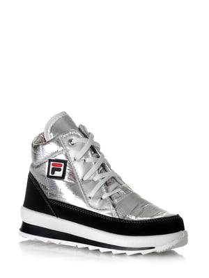 Ботинки серебристого цвета   5608614