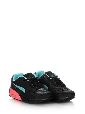 Кроссовки черно-бирюзовые | 5595150