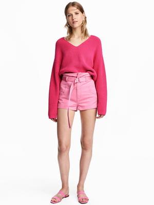 Шорты джинсовые розовые | 5608813