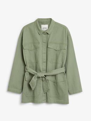Жакет джинсовый цвета хаки | 5608815