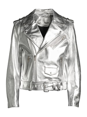 Куртка сріблястого кольору | 5608918