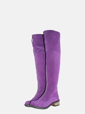Ботфорты фиолетовые | 5603914