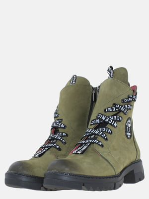 Ботинки цвета хаки | 5603920